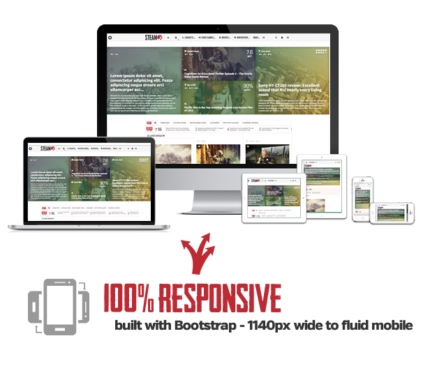 Steam - Responsive Retina Review Magazine Theme  Steam - Responsive Retina Review Magazine Theme  Steam - Responsive Retina Review Magazine Theme